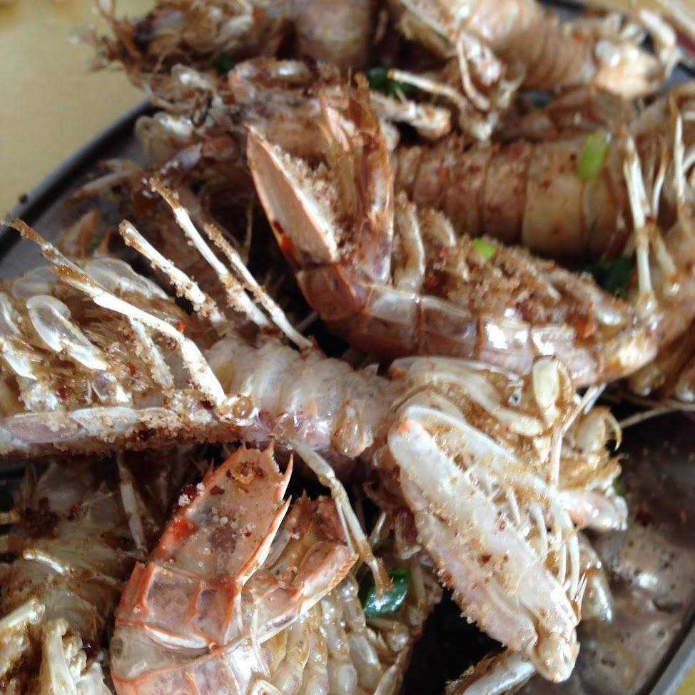 中午吃的椒盐虾?